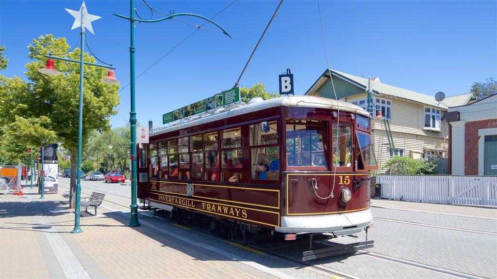 Christchurch ofreciendo una ciudad y artículos de ferrocarril