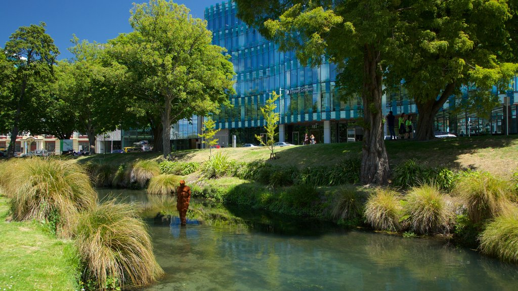 Christchurch which includes outdoor art and a garden