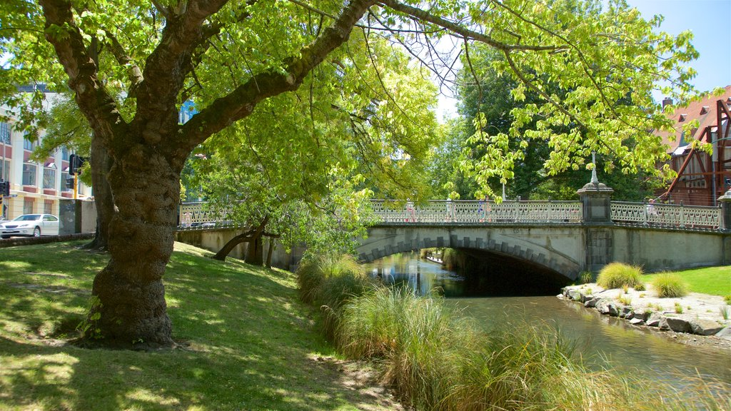 Christchurch featuring a bridge and a garden