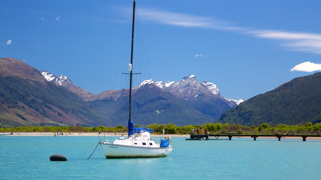 Glenorchy showing a lake or waterhole, mountains and sailing