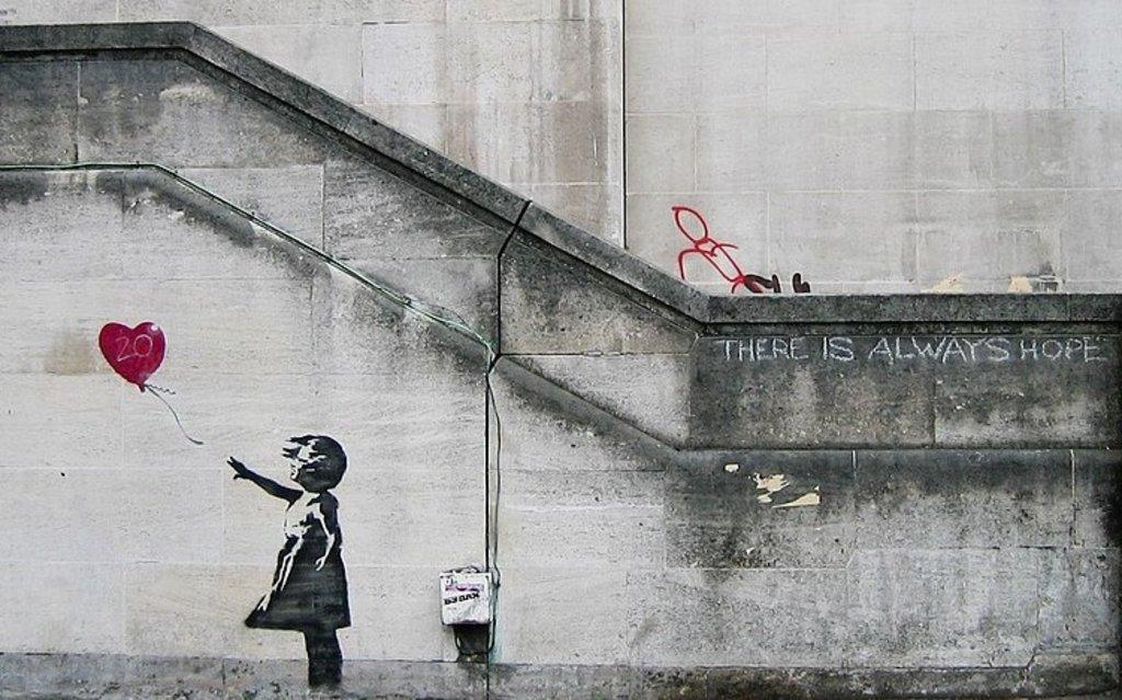 Risultato immagini per South Bank a Londra nel 2007 banksy