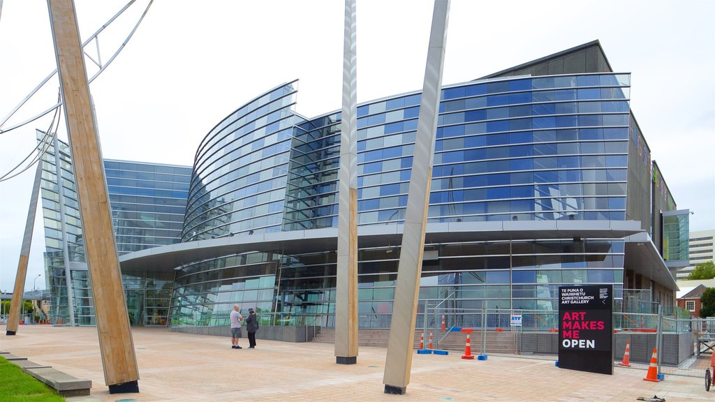 Christchurch Art Gallery ofreciendo arquitectura moderna