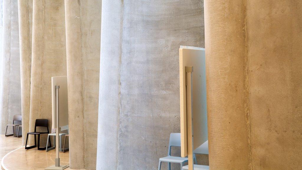 Govett-Brewster Art Gallery que incluye vistas interiores