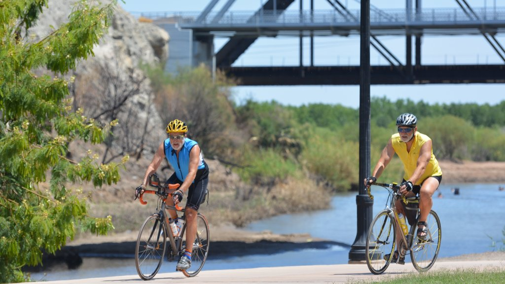 Yuma featuring road cycling, a bridge and a river or creek