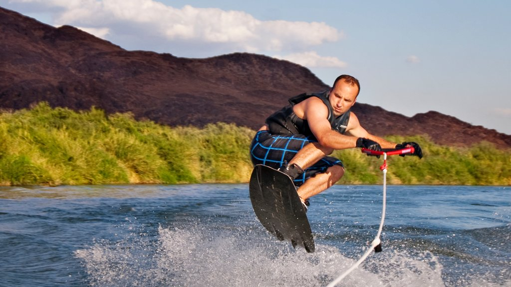 Yuma showing water skiing and a river or creek as well as an individual male
