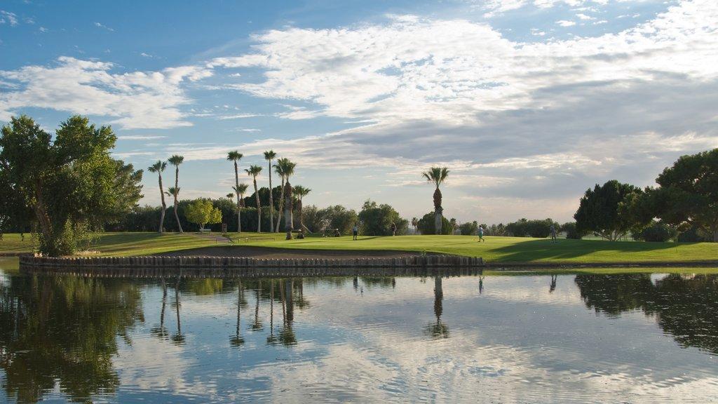 Yuma featuring golf and a lake or waterhole