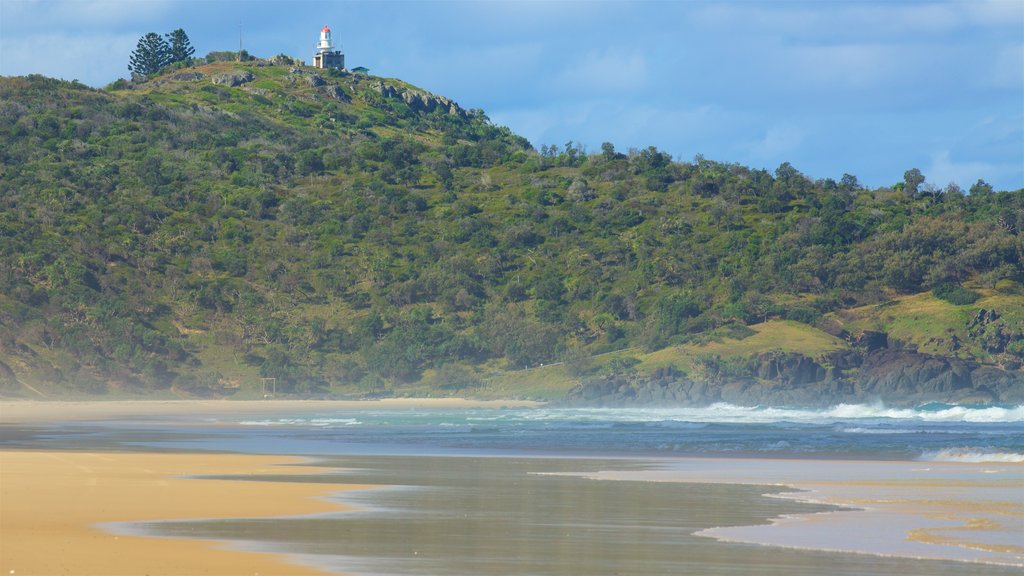 Rainbow Beach showing a sandy beach and general coastal views