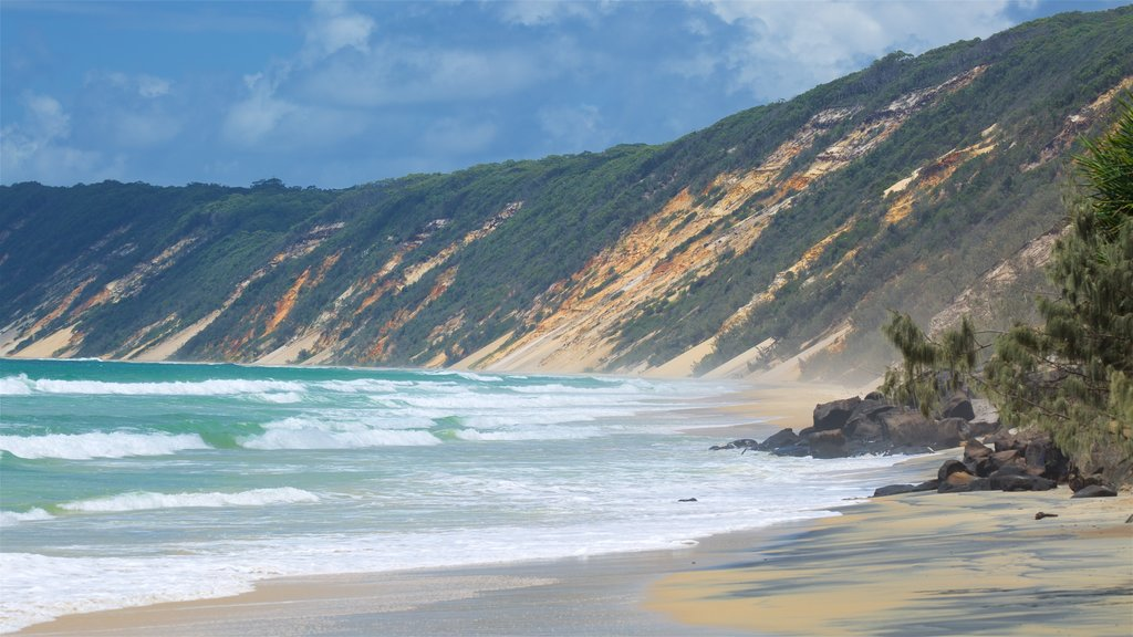 Rainbow Beach featuring a sandy beach and general coastal views
