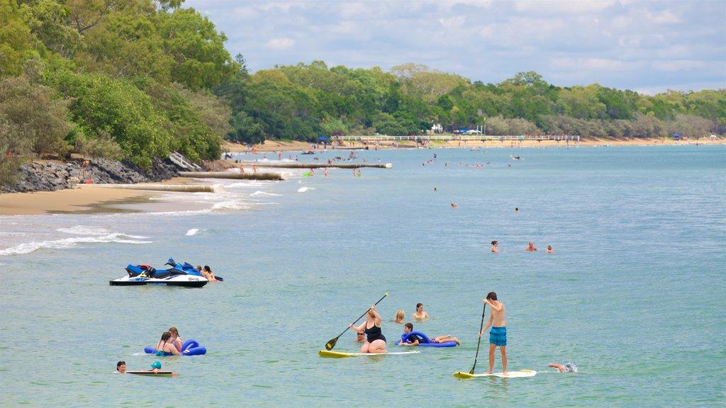 Esplanade featuring kayaking or canoeing, general coastal views and a sandy beach
