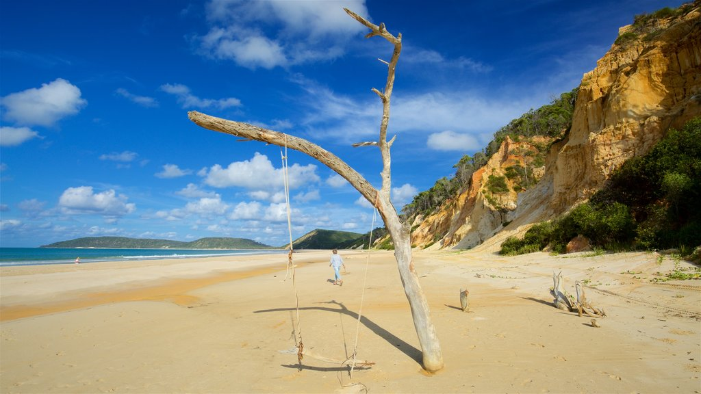 Rainbow Beach which includes a beach and general coastal views