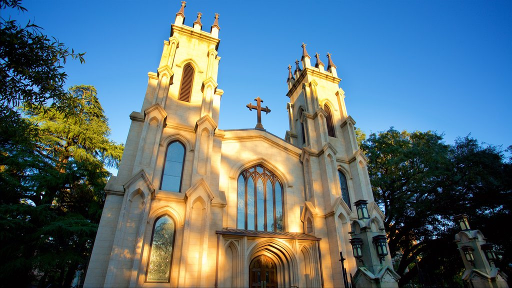 Trinity Episcopal Cathedral featuring a church or cathedral and heritage architecture