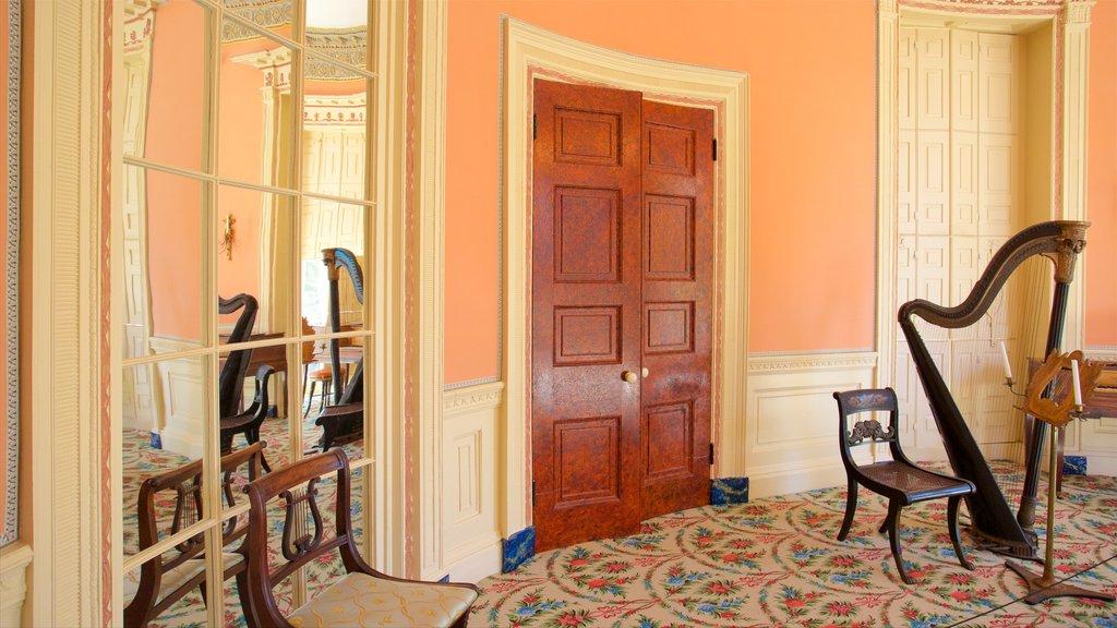 Nathaniel Russell House caracterizando vistas internas e elementos de patrimônio