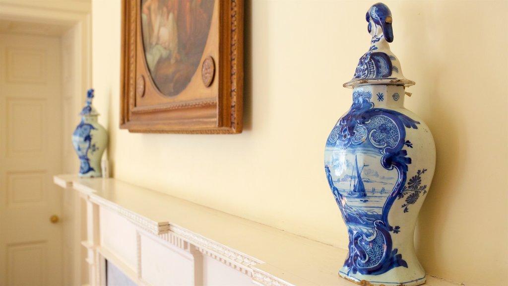 Nathaniel Russell House caracterizando elementos de patrimônio e vistas internas