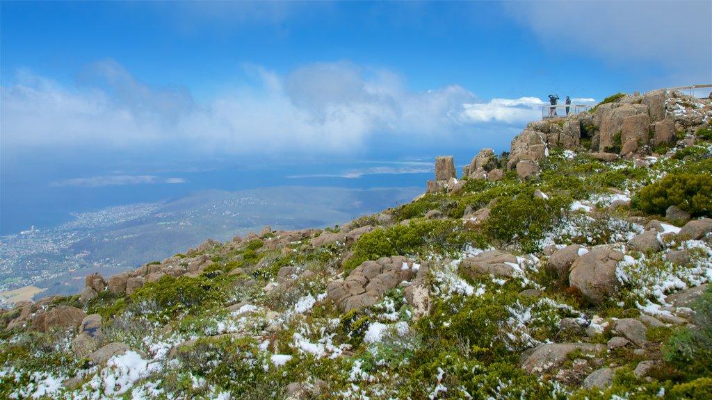 Tasmania que incluye vistas y escenas tranquilas y también un pequeño grupo de personas