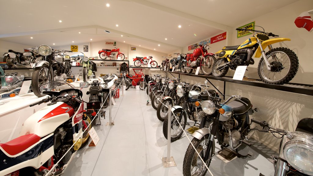 Bicheno\'s Motorcycle Museum & Restoration featuring interior views and heritage elements