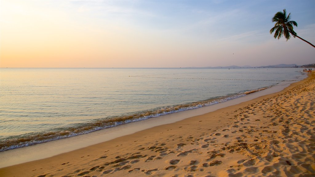 Phu Quoc Island which includes a beach, general coastal views and a sunset