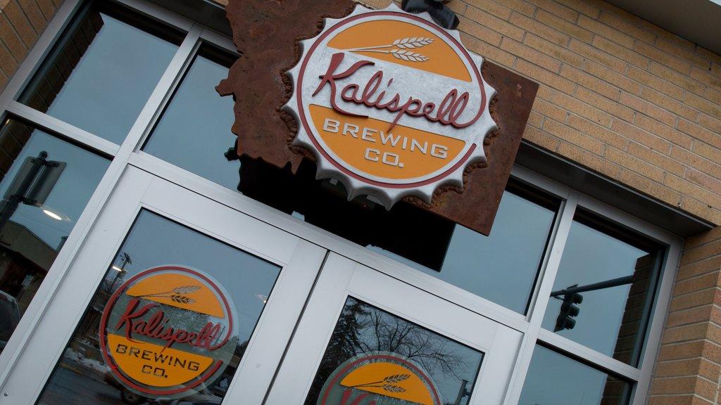 Kalispell showing signage