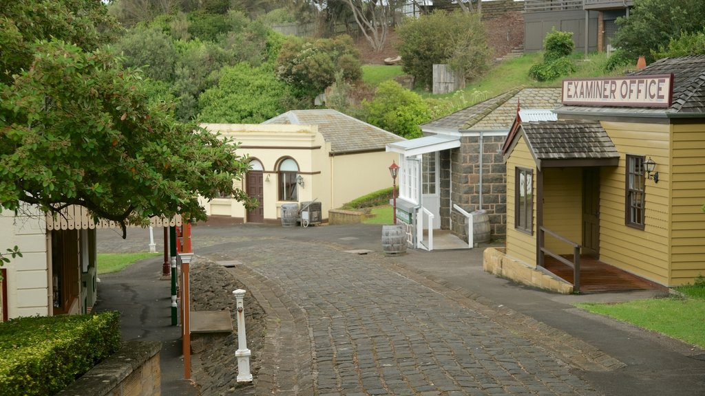 Flagstaff Hill Maritime Village which includes a small town or village