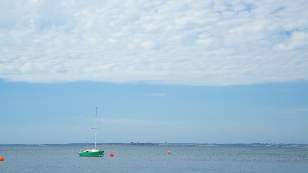 Cowes Beach showing general coastal views