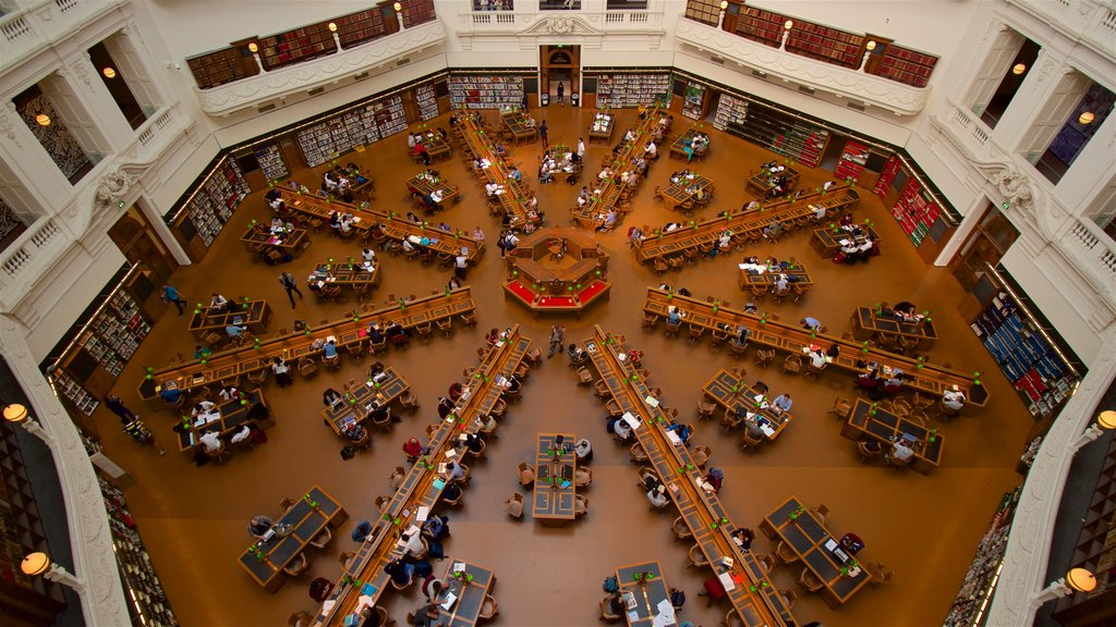State Library of Victoria showing an administrative buidling, interior views and heritage architecture