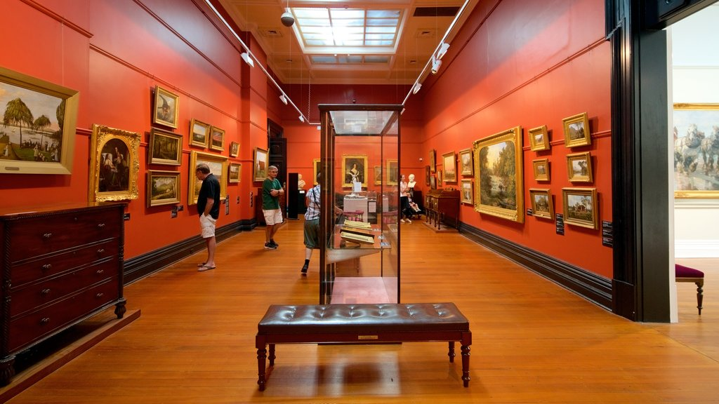 Ballarat Fine Art Gallery which includes interior views as well as a small group of people