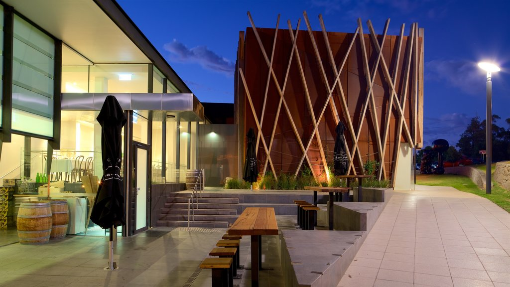 Bendigo Art Gallery featuring modern architecture and a sunset