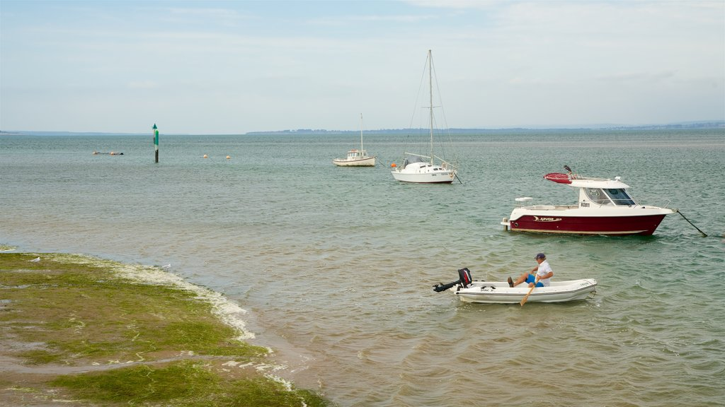 Cowes featuring general coastal views and boating