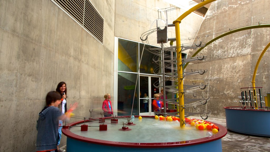 Arizona Science Center showing interior views as well as a small group of people