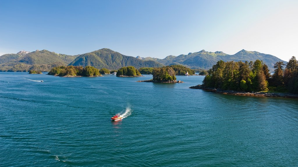Sitka featuring a bay or harbor, mountains and boating