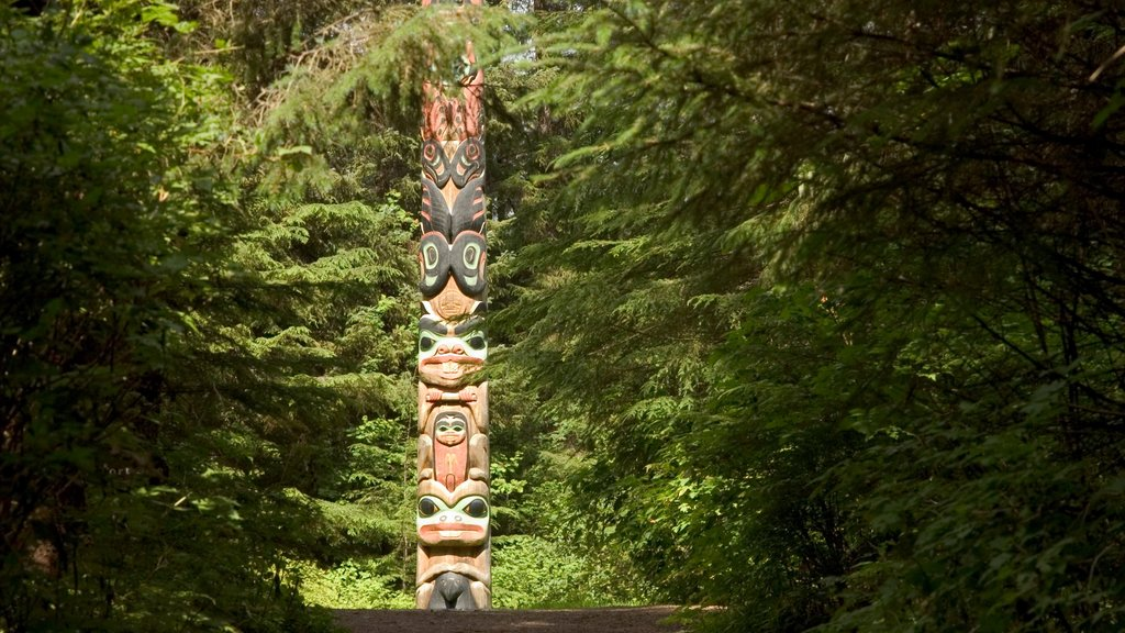 Sitka featuring forests and outdoor art