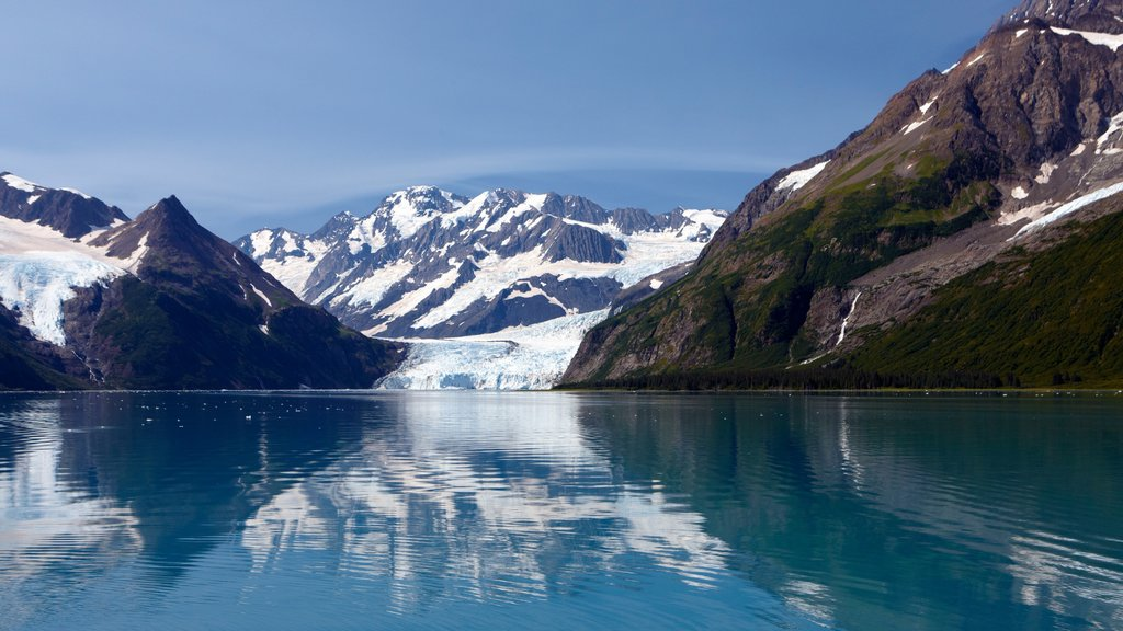 Kenai Peninsula which includes a bay or harbor and mountains