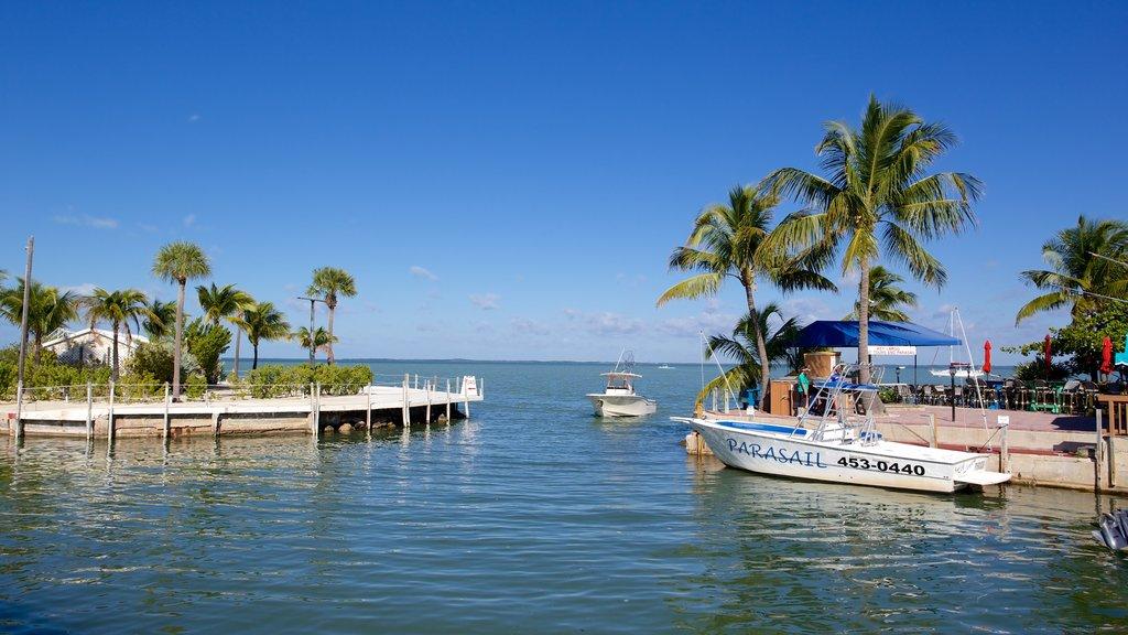 Key Largo caracterizando uma marina