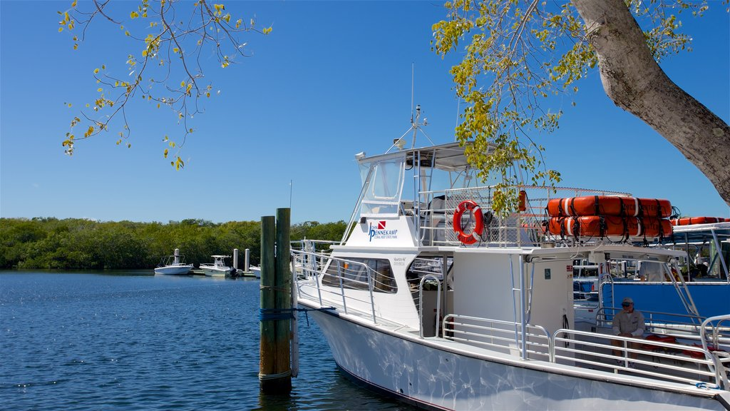John Pennekamp Coral Reef State Park which includes boating and a bay or harbor
