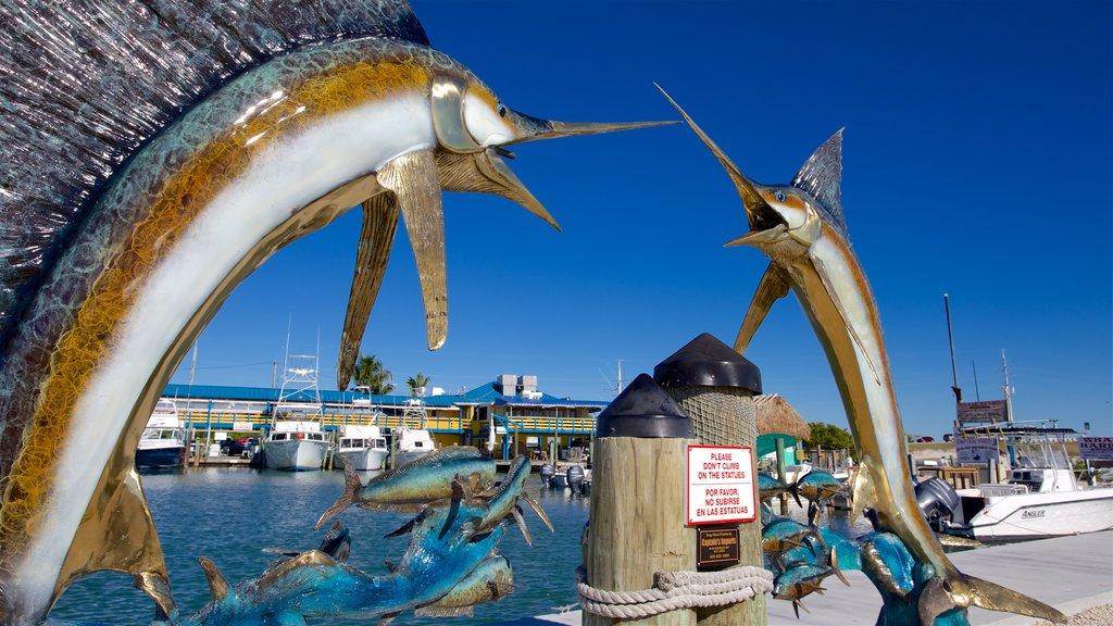 Sul da Flórida caracterizando uma baía ou porto e arte ao ar livre