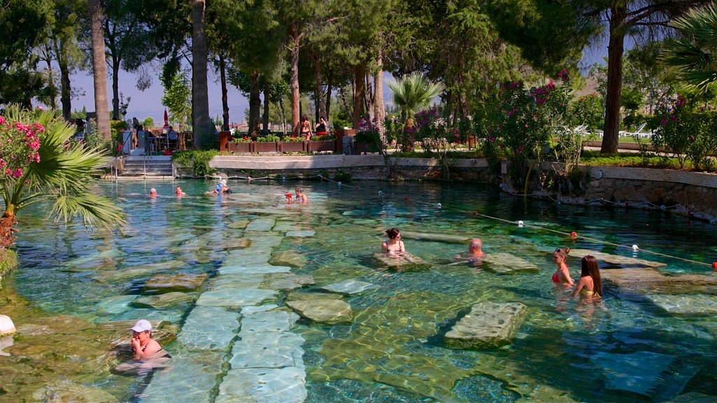 Hierapolis which includes a hot spring and a pool as well as a small group of people