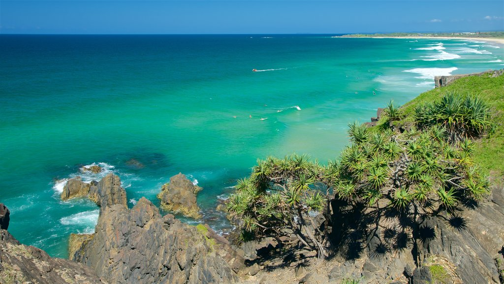 Cabarita Beach featuring rugged coastline
