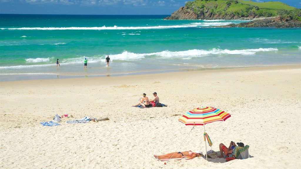 Cabarita Beach which includes a beach as well as a small group of people