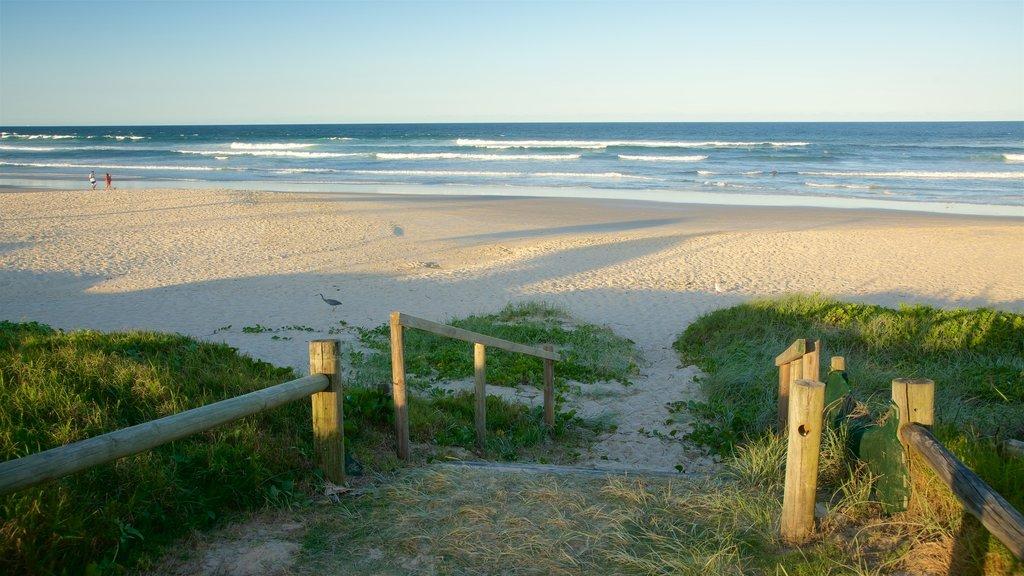 Lennox Head which includes a sandy beach