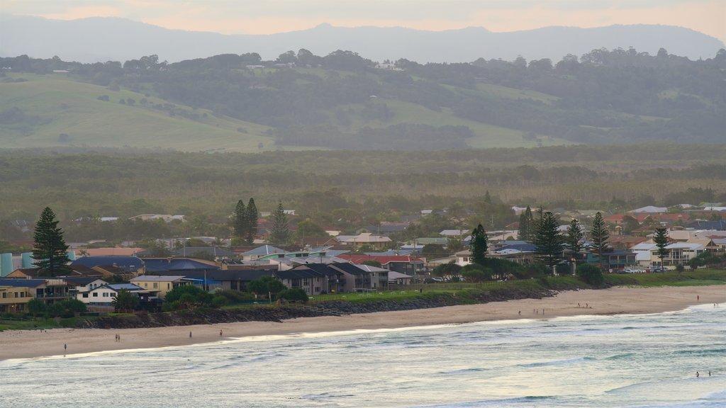 Lennox Head featuring a coastal town