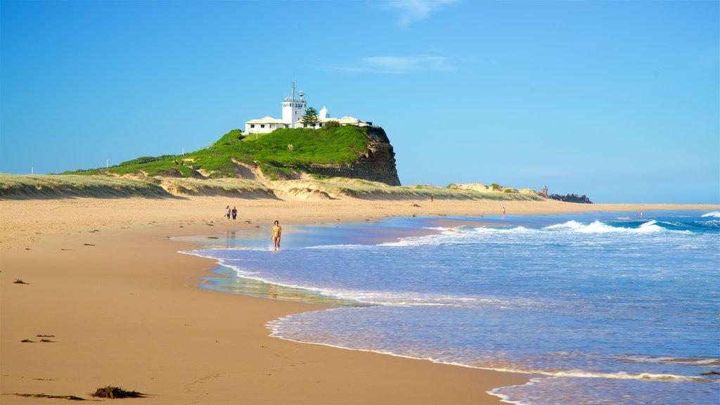 Nobbys Head Beach which includes a sandy beach