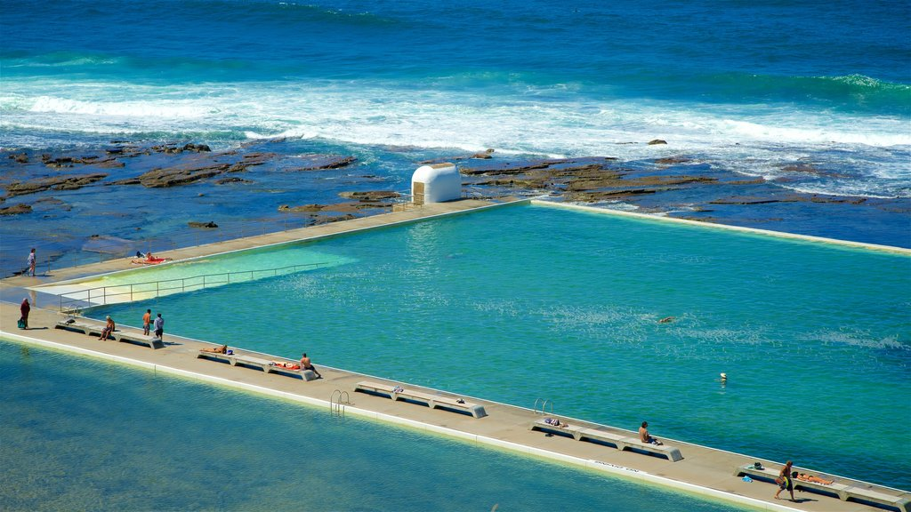 Newcastle which includes general coastal views, a pool and swimming