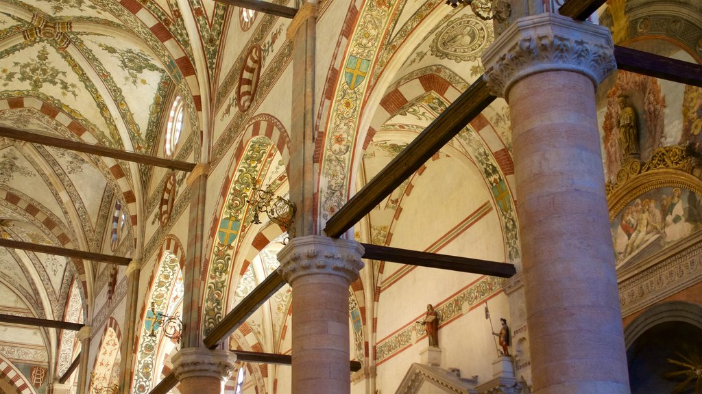 Verona which includes interior views, a church or cathedral and heritage architecture