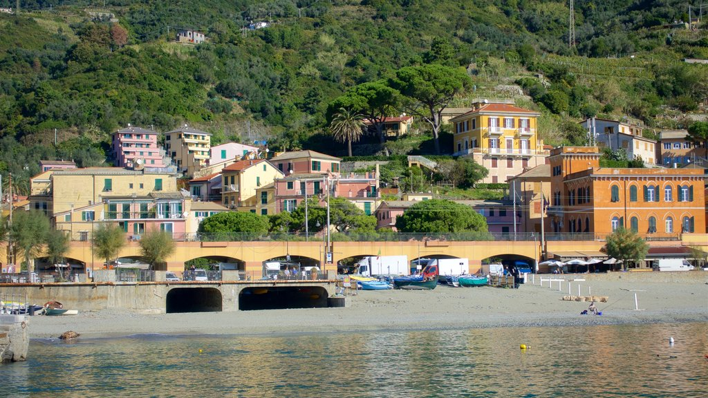 Monterosso al Mare featuring a bridge, a bay or harbor and a coastal town