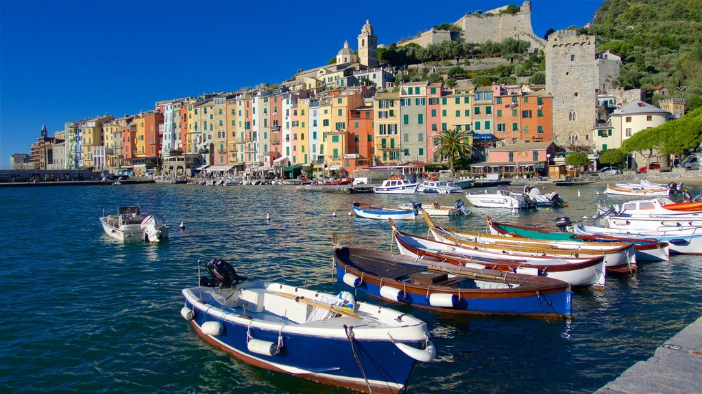 La Spezia featuring boating, a bay or harbor and a coastal town
