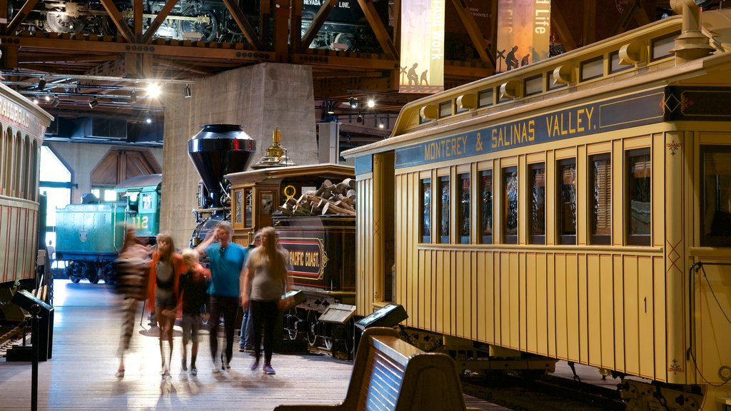 California State Railroad Museum showing interior views