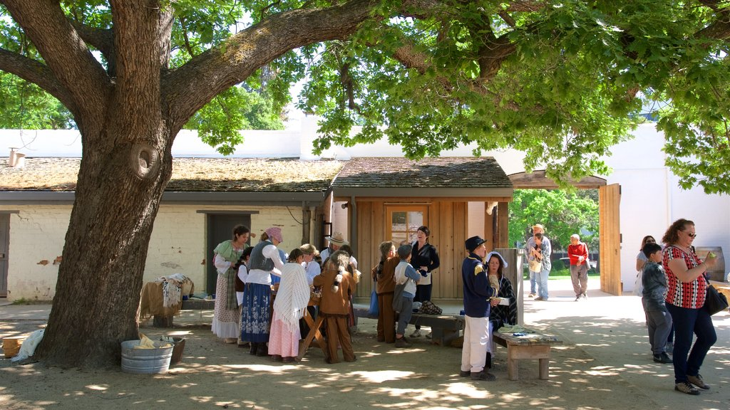Fort Sutter State Historical Park as well as a large group of people