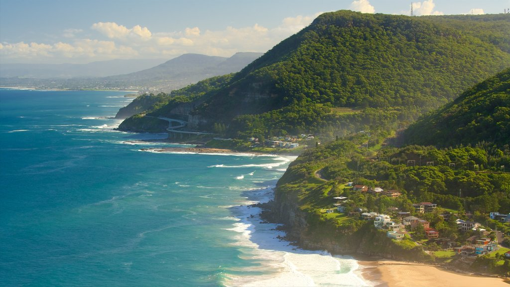 Bald Hill Lookout which includes landscape views and general coastal views