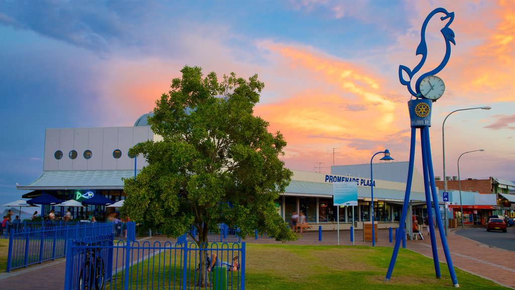 Batemans Bay featuring shopping and a sunset