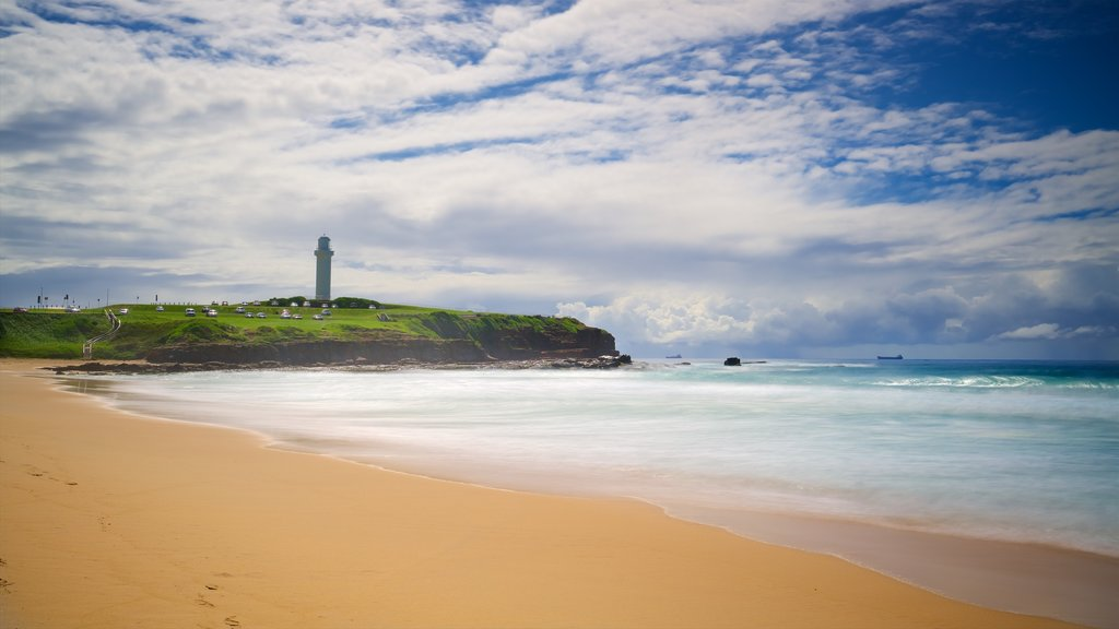 Wollongong South Beach featuring a sandy beach and general coastal views