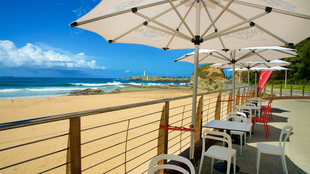 North Wollongong which includes general coastal views and a sandy beach